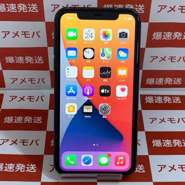 iPhone11 64GB Softbank版SIMフリー MWLT2J/A A2221正面