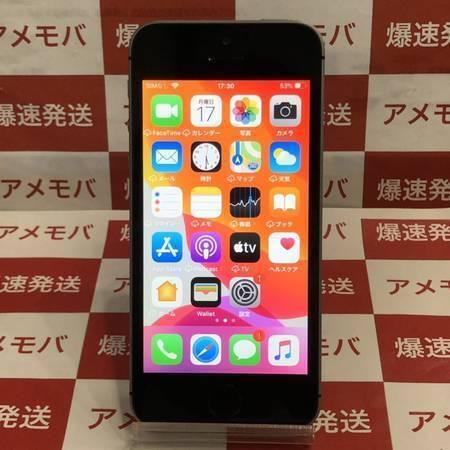 iPhone SE 16GB Apple版SIMフリー スペースグレイッテリー100%-正面