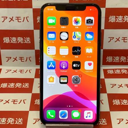 iPhoneX 64GB AU版SIMフリー バッテリー89% スペースグレイ-正面
