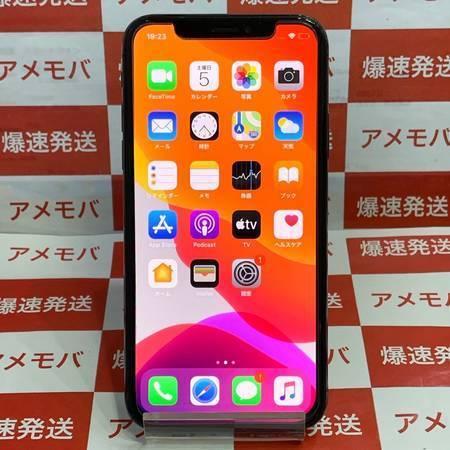 iPhoneX 64GB AU版SIMフリー スペースグレイッテリー85%-正面