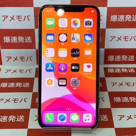 iPhoneX 64GB Softbank版SIMフリー シルバー バッテリー90%-正面