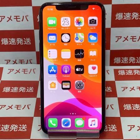 iPhoneX 64GB AU版SIMフリー バッテリー100%-正面