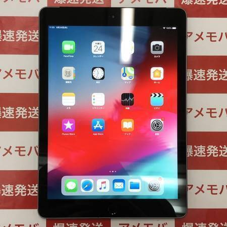 iPad(第6世代) 32GB Wi-Fi+CEL AU版SIMフリー バッテリー98%-正面