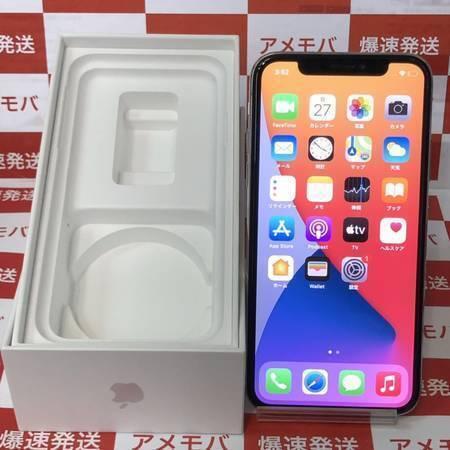 iPhoneX 64GB docomo版SIMフリー シルバー バッテリー83%-正面