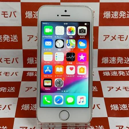 iPhone5s 16GB docomo○ シルバー バッテリー100%-正面