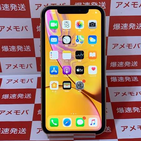 iPhoneXR 128GB AU版SIMフリー バッテリー90%-正面