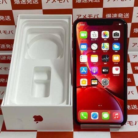 iPhoneXR 128GB AU版SIMフリー バッテリー85% レッド-正面