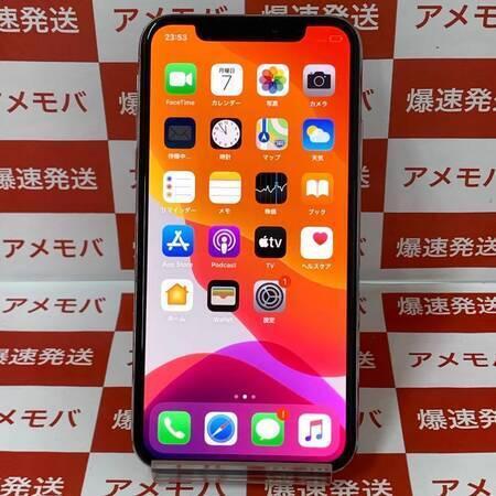 iPhoneX 64GB AU版SIMフリー シルバー バッテリー88%-正面