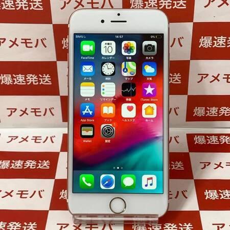 iPhone6s 64GB AU版SIMフリー ローズゴールド バッテリー100%-正面