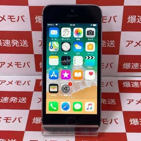 iPhone SE 16GB docomo版SIMフリー スペースグレイ バッテリー96%-正面