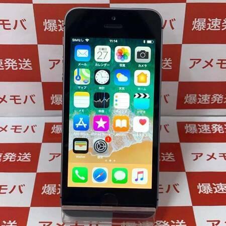 iPhone SE 16GB docomo版SIMフリー スペースグレイ バッテリー94%-正面