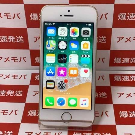 iPhone SE 16GB docomo版SIMフリー ゴールド バッテリー92% 美品-正面