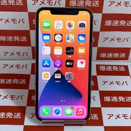 iPhone X 64GB Softbank版SIMフリー バッテリー87% シルバー-正面
