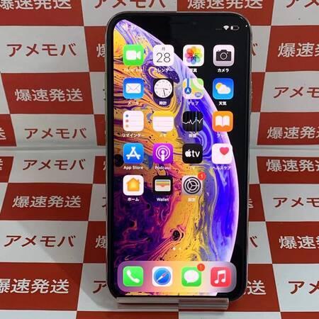 iPhone XS 64GB AU版SIMフリー バッテリー85% シルバー-正面