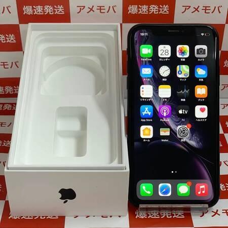 iPhone XR 128GB AU版SIMフリー バッテリー94% ブラック 美品-正面