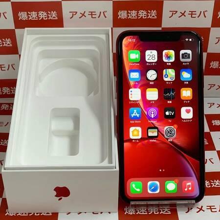 iPhone XR 128GB AU版SIMフリー バッテリー90% レッド 美品-正面