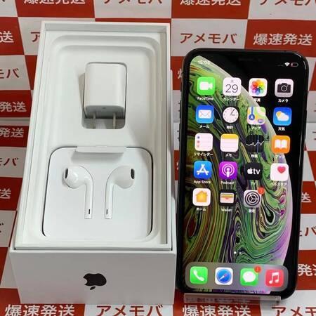iPhone XS 64GB Apple版SIMフリー 新品同様品 スペースグレイ-正面