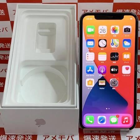 iPhone X 64GB docomo版SIMフリー バッテリー86% シルバー-正面