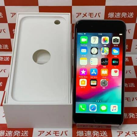 iPhone6 128GB AU○ バッテリー98% スペースグレイ-正面