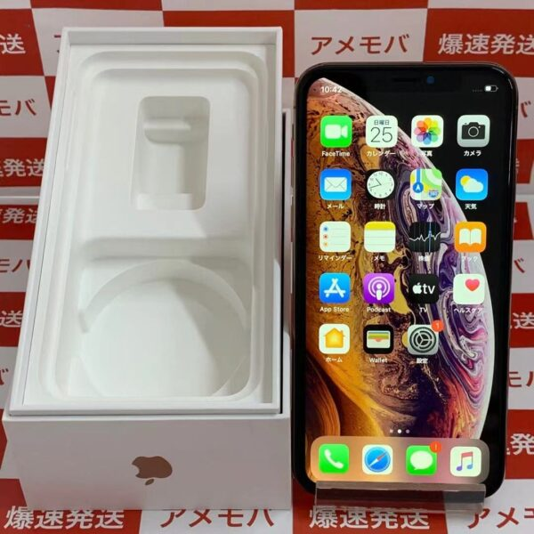 iPhoneXS docomo版SIMフリー 256GB MTE22J/A A2098-正面