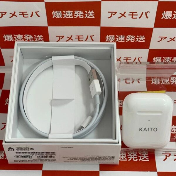Apple AirPods 第2世代 with Wireless Charging Case MRXJ2J/A 刻印あり-正面