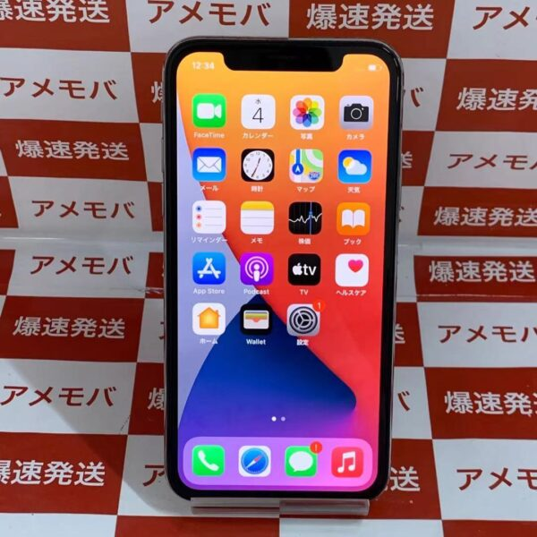 iPhoneX Apple版SIMフリー 256GB MQC22J/A A1902-正面