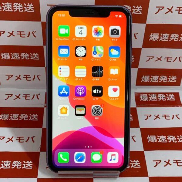 iPhone11 au版SIMフリー 64GB MQC22J/A A1902-正面