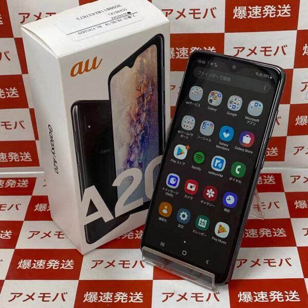 Galaxy A20 SCV46 au 32GB SIMロック解除済み 新品同様品-正面